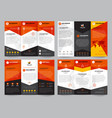 brochure template set vector image