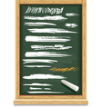 brush strokes of chalk on a blackboard vector image