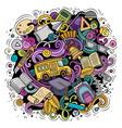 cartoon cute doodles back to school colorful vector image