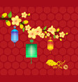 chinese new year design dog with plum blossom in vector image vector image