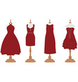 Cocktail and evening dresses vector image