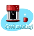 Coffee Machine and Cup vector image vector image