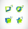 Company 3d logo vector image vector image