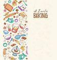 cooking time poster vector image vector image