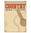 Country music festival background with text old vector image vector image
