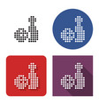 dotted icon bowling in four variants vector image vector image