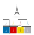 Eiffel Tower in Paris icon vector image