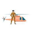 female pilot vector image