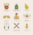 fitness icons design vector image