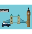 flag london england design vector image vector image