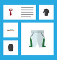 flat icon dress set of uniform trunks cloth vector image vector image