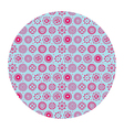 flowers in circle pattern vector image vector image
