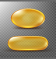 golden capsule fish oil or vitamin vector image vector image