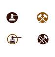 hammer court icon design vector image