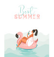 hand drawn abstract fun summer time vector image vector image