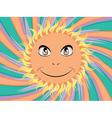 Happy sun face vector image