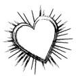 heart love sun burst vector image vector image