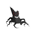 horror tree on a white background evil monster vector image vector image