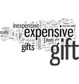 inexpensive gifts vector image vector image