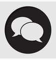 information icon - speech bubbles vector image vector image