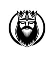 king with crown vector image
