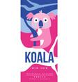 koala birds and animals poster original design vector image vector image