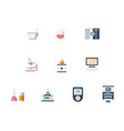 laboratory flat color icons set vector image vector image