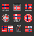 made in norway icon set made in kingdom norway vector image vector image