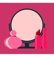 makeup cosmetic beauty silhouettes set icon vector image
