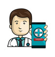 medicine online flat icons vector image vector image