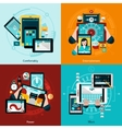 Phablet And Tablet Icons Set vector image vector image