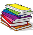 Pile of Colorful Books vector image vector image