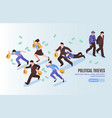 political thieves isometric poster vector image