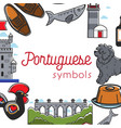 portuguese symbols travel to portugal culture and vector image vector image