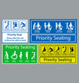 priority seat sticker vector image