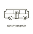 public transport isolated outline icon city bus vector image vector image