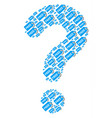 question mark collage of free tag icons vector image