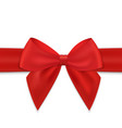 realistic bow and ribbon isolated vector image vector image