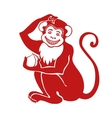 Red monkeyChinese zodiac sign vector image vector image