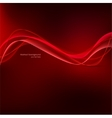 Red wavy background vector image vector image