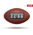 Rugby ball with score of the game vector image vector image