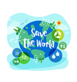 Save the World sustainable development concept vector image vector image