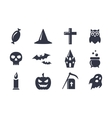 Simple icons set for Halloween vector image vector image