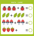 simple math game for kids vector image vector image