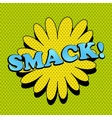 Smack comic wording vector image vector image