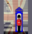 soldier on royal guard duty vector image