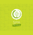 spa retreat organic eco background nature vector image vector image
