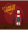 stand up comedy vaporizer theme vector image