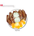 stegt flaesk or fried bacon the danish national d vector image vector image