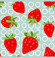 strawberries seamless pattern red strawberry with vector image vector image